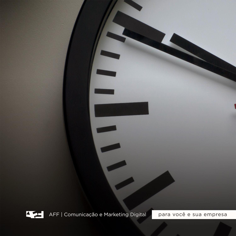 imagem meramente ilustrativa, simbolizando o tempo para rede sociais